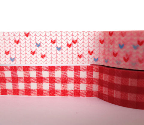 Candid Hearts and Grid - Dailylike Washi Masking Tape