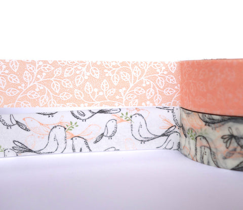 Murmur Birds and Flowers - Dailylike Washi Masking Tape