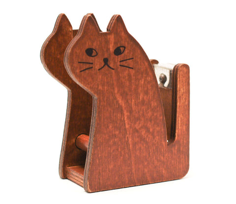"""Miranda"" Cat - Natural - Tape Dispenser"