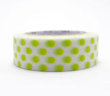 Dot Moegi Yellow-Green Washi Tape