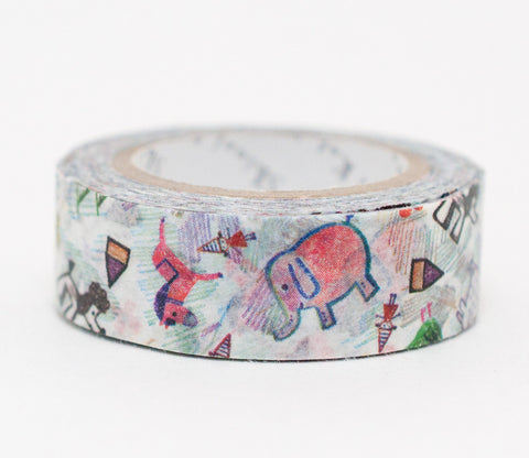 Paint Animals - Elephants - Shinzi Katoh Washi Tape