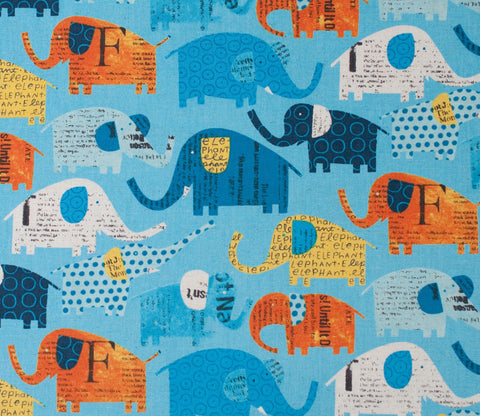 Circus Elephants - Blue - Nancy Wolff - Kokka