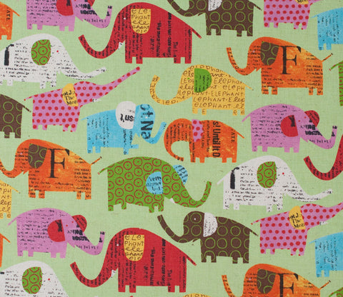 Circus Elephants - Green - Nancy Wolff - Kokka