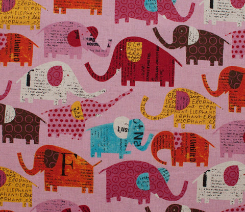 Circus Elephants - Pink - Nancy Wolff - Kokka