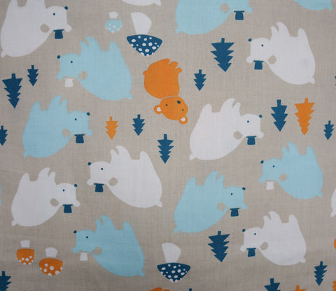 Bear Family - Everyday Party - Birch Organic Fabrics