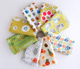Orange and Olive Green - Japanese and Organic Fabric Fat Quarter Bundle