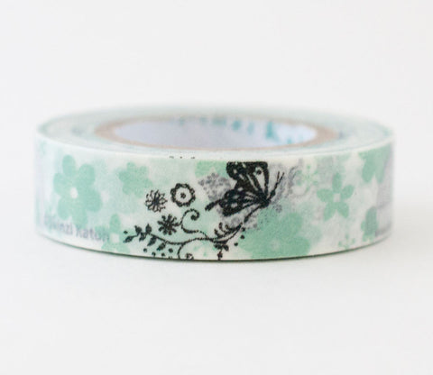 Flower Bird Butterfly Shinzi Katoh Washi Tape