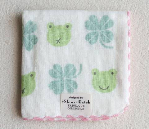 Frog & Clover Small Towel - Shinzi Katoh