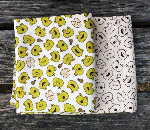 Happy Frogs Double Gauze Fabric Bundle