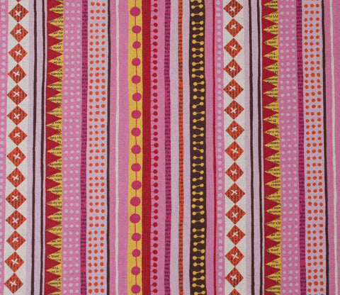 Stripes - Pink - Nancy Wolff - Kokka
