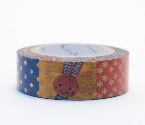 Colorful Rabbits - Shinzi Katoh Washi Tape