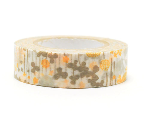 Little Garden - Gold - Japanese Washi Tape Set