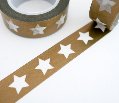 Gold Star Washi Tape