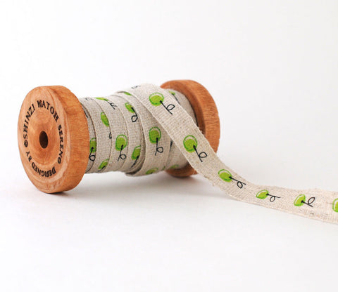 Green Fruit - Shinzi Katoh Linen Tape 12mm