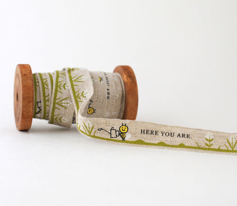 Here You Are Bee - Shinzi Katoh Linen Tape 18mm