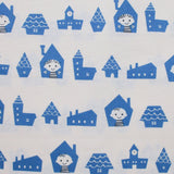 Neighborhood Boys and Girls - Blue - Puti de Pome - Mico Ogura - Kiyohara Japanese Fabric