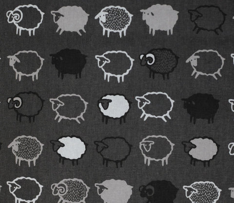 Baa Baa Black Sheep - Grey and Black - Kiyohara