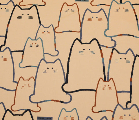 Quiet Cat Family - Dark Blue and Brown - Kobayashi