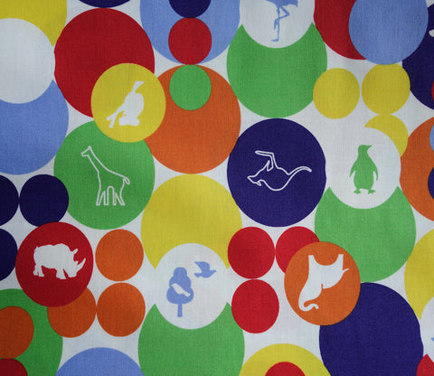 Bubble Buddies - Animal Bubbles - Kokka Japanese Cotton Fabric