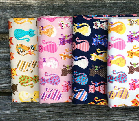 Patchwork Cats Japanese Fabric Bundle