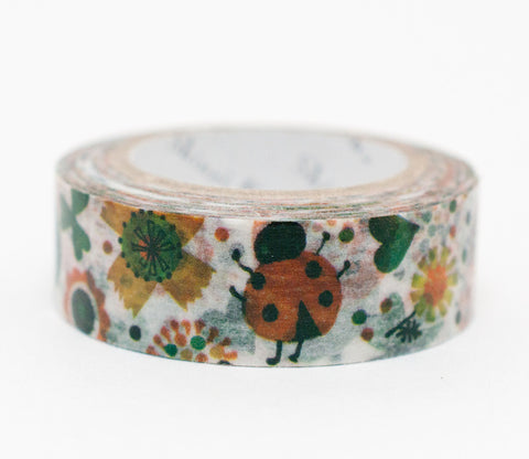 Ladybug and Flowers - Shinzi Katoh Washi Tape