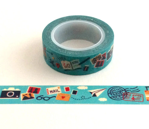 Let's Go Travel Washi Tape