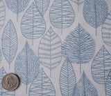 Line Leaf - Bark and Branch - Blue - Quilting Cotton - Cloud9 Organic Fabrics