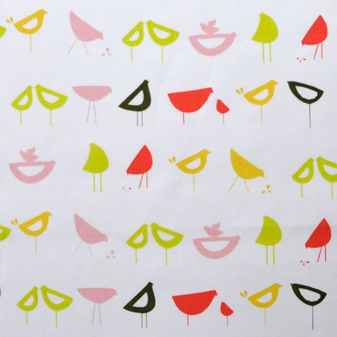 Little Birds Red - Havana - Monaluna Organic Fabric