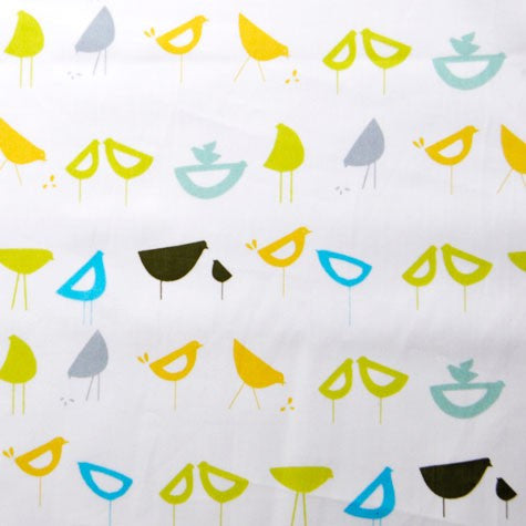 Little Birds Blue - Havana - Monaluna Organic Fabric