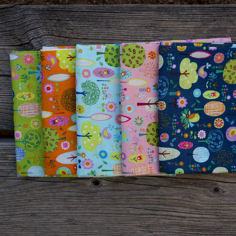 Little Sweet Forest - Japanese Fat Quarter Fabric Bundle