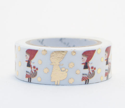 Little Red Riding Hood - Shinzi Katoh Gold Foil Washi Tape