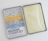 Masking Tape Sticker Set Tin - Paper Patterns - 27 Sheets