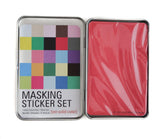 Masking Tape Sticker Set Tin - Solid Colors - 27 Sheets