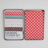 Masking Tape Sticker Set Tin - Basic Patterns - 27 Sheets