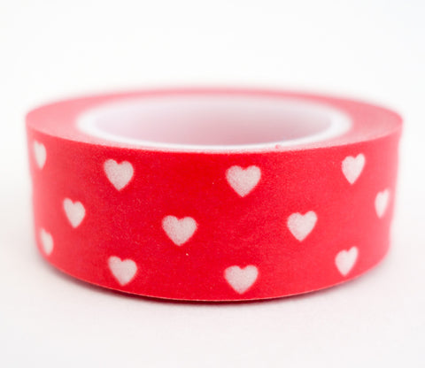 Little Hearts Red Washi Tape