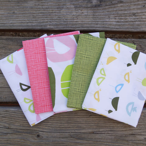 Havana Birds Fat Quarter Bundle - Monaluna Organic Fabric