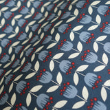 Blue Tulip Poplin - Simple Life - Monaluna Organic Fabric