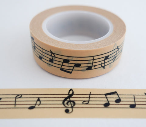 Music Notes - Cream Color - Washi Tape