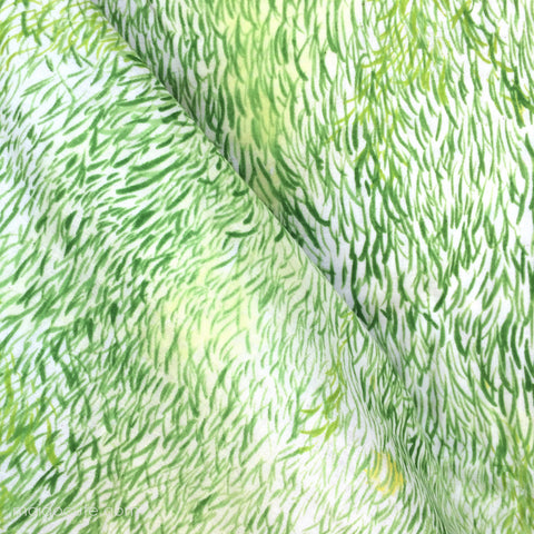 Nani Iro Wild Elegant Wind by Naomi Ito - Wave Green - Japanese Cotton Double Gauze Fabric - Kokka