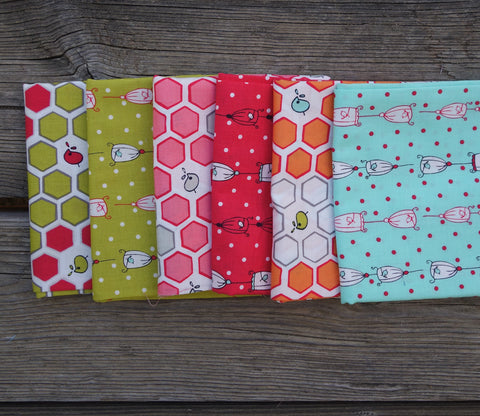 Birds and Honeycombs by Natalie Lymer - Japanese Fat Quarter Fabric Bundle