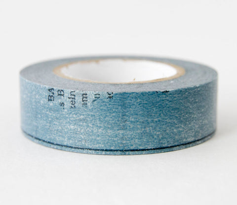 Old Book - Blue - Japanese Washi Tape Set