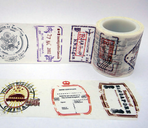 Passport Travel Stamps Washi Tape