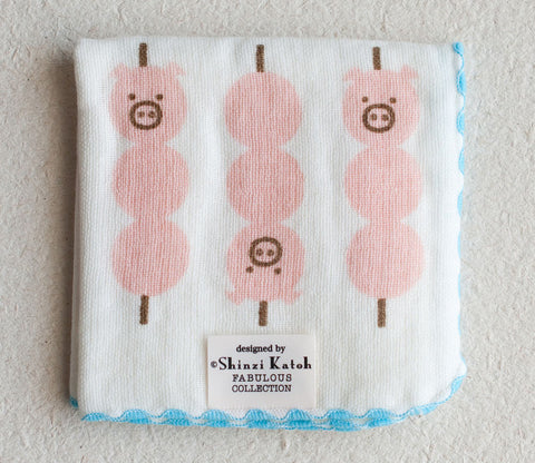 Pig Dango Small Towel - Shinzi Katoh