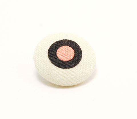 Pink & Brown Dot Button - Shinzi Katoh