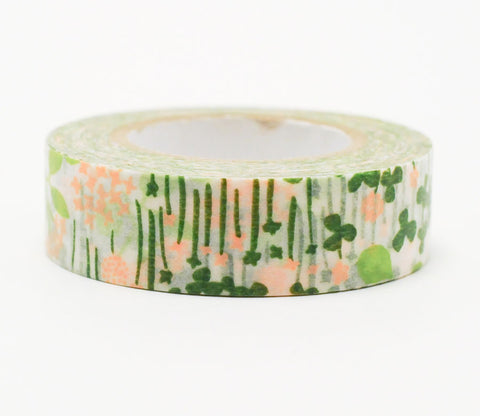 Little Garden - Pink/Green - Japanese Washi Tape Set