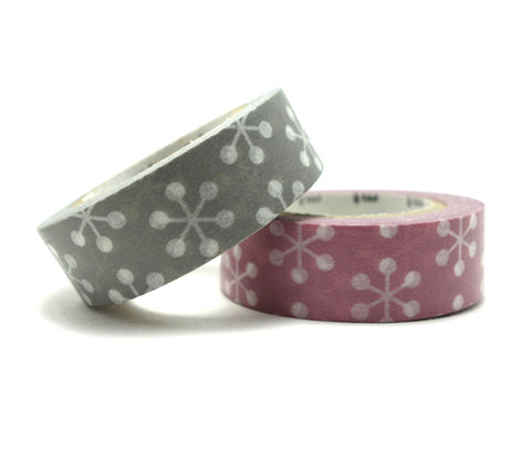 Crystal Kesshou - Pink & Grey - Washi Tape