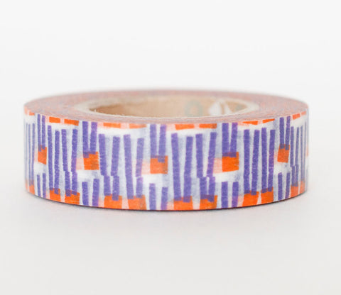 Purple Abstract Carrot Pattern Washi Tape