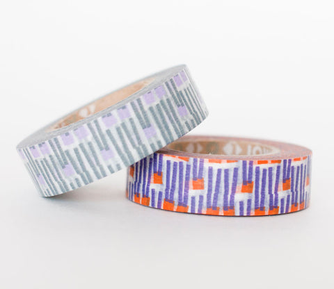 Purple and Grey Abstract Carrot Pattern Washi Tape