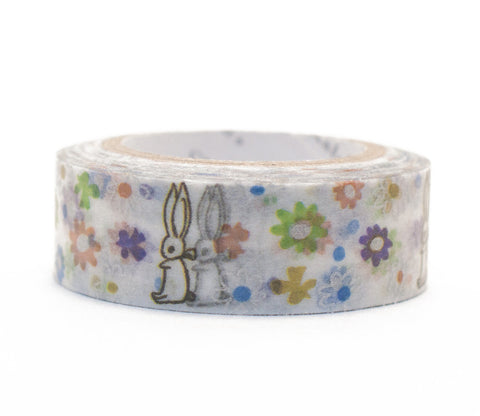 Bunny Rabbit and Flowers - Shinzi Katoh Washi Tape