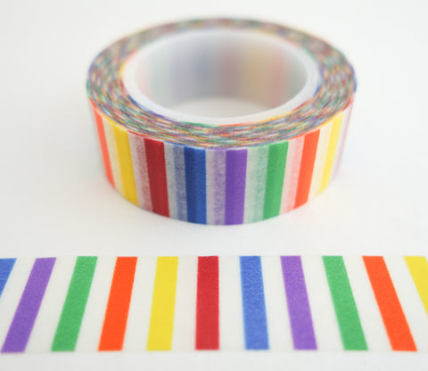 Rainbow Vertical Stripes Washi Tape